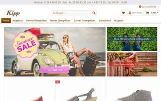 Kipp Schuhe Webseiten Screenshot