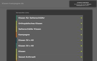 kissen-kampagne.de Webseiten Screenshot