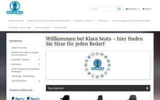 klaraseats.com Webseiten Screenshot