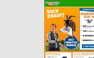 klarmobil Webseiten Screenshot