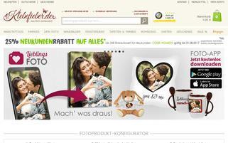 Klebefieber Webseiten Screenshot