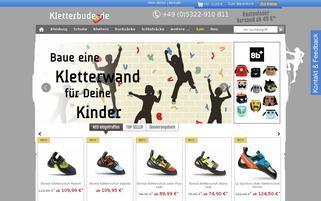 kletterbude.de Webseiten Screenshot