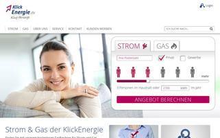 KlickEnergie Webseiten Screenshot
