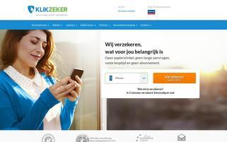 klikzeker.nl Webseiten Screenshot