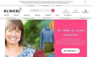 Klingel Webseiten Screenshot