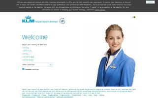 KLM Webseiten Screenshot