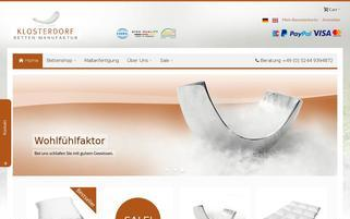 klosterdorf-betten.de Webseiten Screenshot