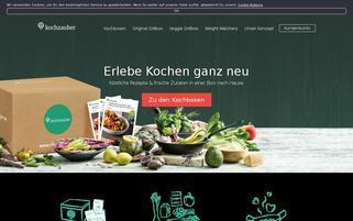 Kochzauber Webseiten Screenshot