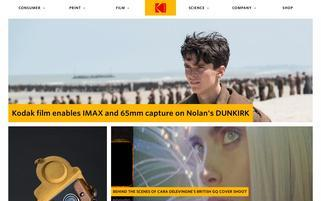 Kodak Webseiten Screenshot