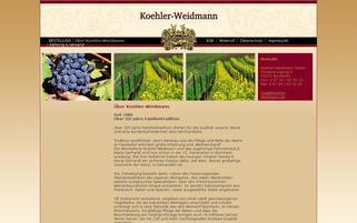 Koehler Weidmann Webseiten Screenshot