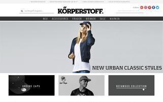 koerperstoff.com Webseiten Screenshot