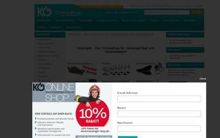 koessinger-shop.de Webseiten Screenshot