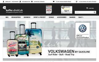 koffer-direkt.de Webseiten Screenshot