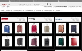 Koffer.net Webseiten Screenshot