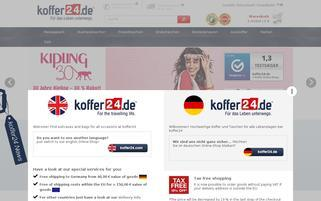 koffer24.de Webseiten Screenshot