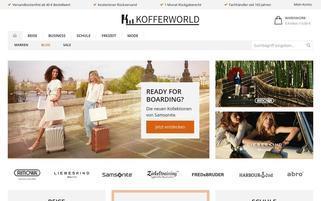 Kofferworld Webseiten Screenshot