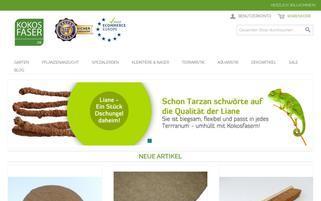 kokosfaser.de Webseiten Screenshot