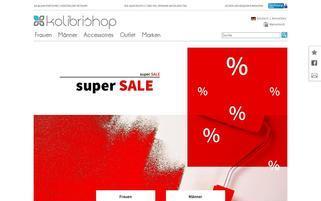 Kolibrishop CH Webseiten Screenshot
