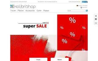 Kolibrishop Webseiten Screenshot