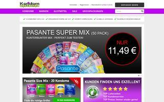 Kondom Outlet Webseiten Screenshot