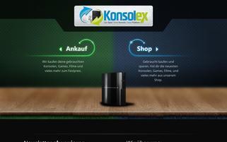 Konsolex Webseiten Screenshot