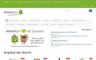 Konsumgut Webseiten Screenshot