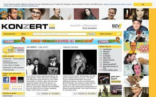 Konzertkasse Webseiten Screenshot