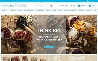 KoRo Drogerie Webseiten Screenshot