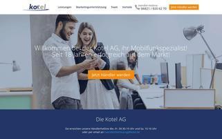 Kotel Webseiten Screenshot