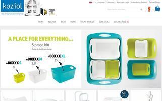 Koziol Webseiten Screenshot