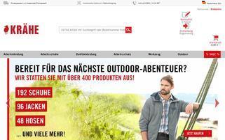 Krähe Webseiten Screenshot