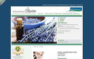 kraeuterhaus-klocke.de Webseiten Screenshot
