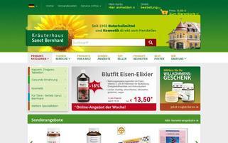 Kräuterhaus Sanct Bernhard Webseiten Screenshot