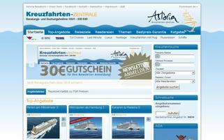 Kreuzfahrten-Zentrale Webseiten Screenshot