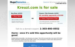 Kreuzi Webseiten Screenshot