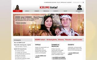 Krimi total Webseiten Screenshot