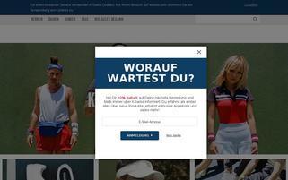 kswiss.de Webseiten Screenshot