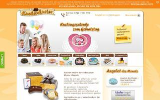Kuchenkurier Webseiten Screenshot
