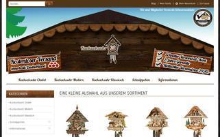 kuckucksuhr24.com Webseiten Screenshot