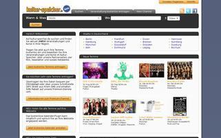 kultur-speicher.de Webseiten Screenshot