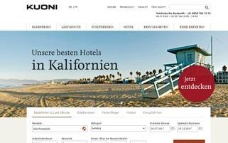 Kuoni.ch Webseiten Screenshot