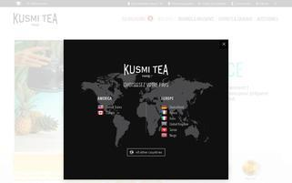 Kusmi Tea Webseiten Screenshot