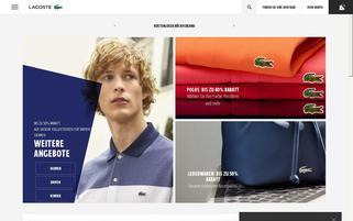 LACOSTE Webseiten Screenshot