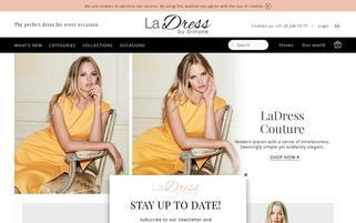 LaDress Webseiten Screenshot