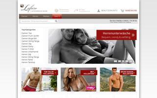 Lafaro Unterwäsche Webseiten Screenshot