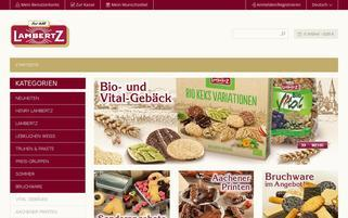 Lambertz Webseiten Screenshot