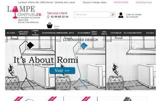 lampe-avenue.fr Webseiten Screenshot
