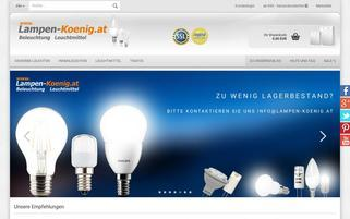 lampen-koenig.at Webseiten Screenshot