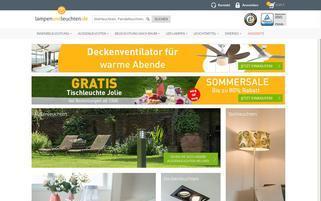 Lampen und Leuchten Webseiten Screenshot