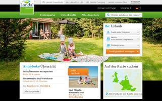 Landal GreenParks Webseiten Screenshot